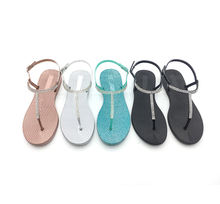 Flat sandals for women and ladies Women's T-Strap Thong Sandals    Flip-Flop Beach  Casual shoes
