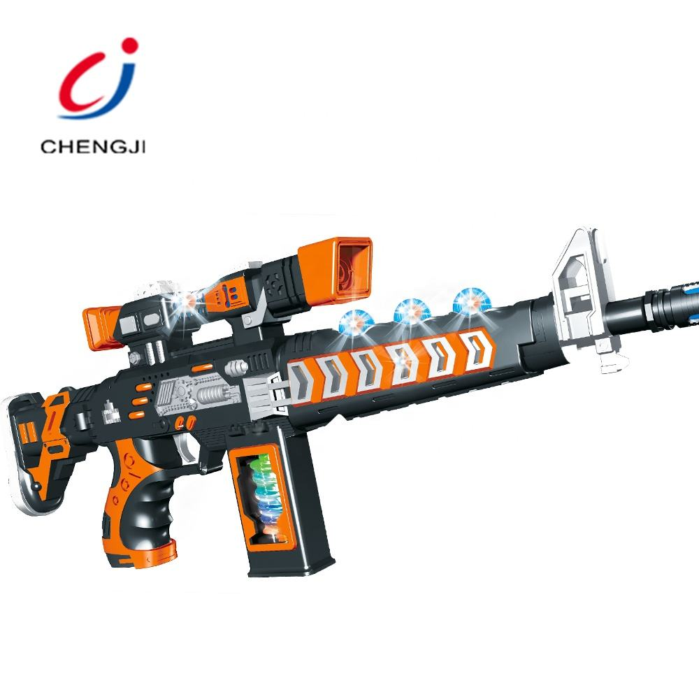 Plastic b/o boys shooting game super play kids flash light electric toy gun