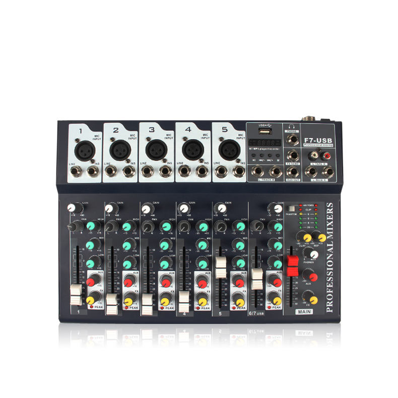Wholesale Mixer Konsol Soundcraft Bluetooth dengan MIC Audio MIC Amerika DJ