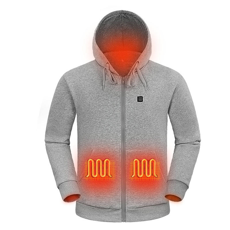 Wholesale custom waterproof battery heated hoodie jacket cheap powered and warm far infrared winter hoodies