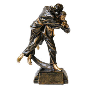 Factory direct gifts and crafts award resin trophies judo figure statue sculptures handmade gifts