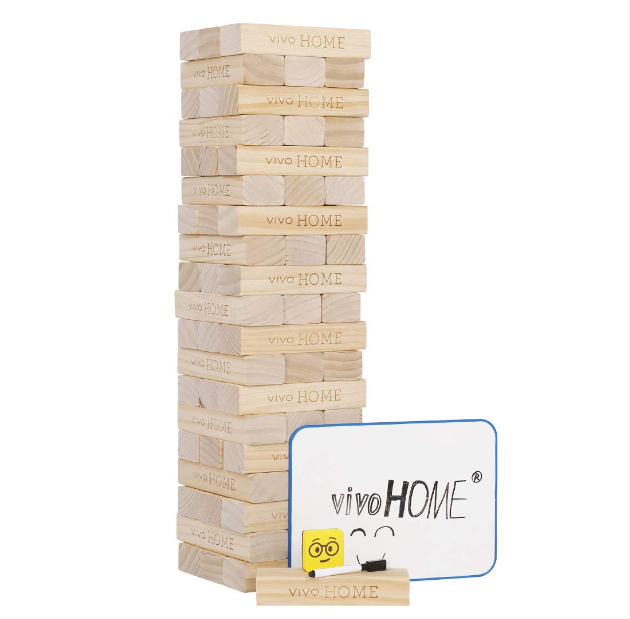58 Blocks Giant Wood Block Yard Game Tumbling Timbers