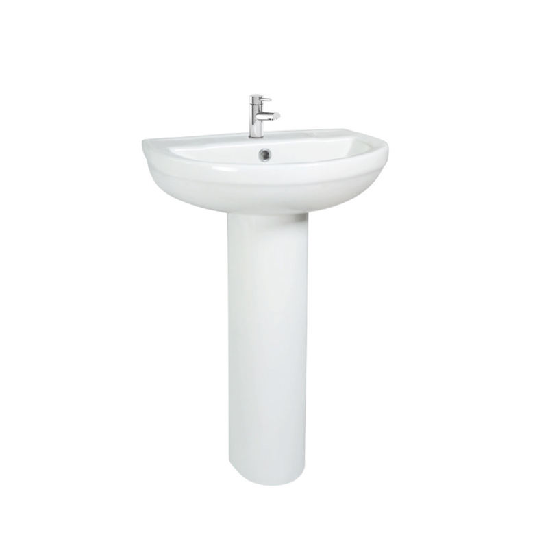 China Factory wholesale ceramic high quality Classical pedestal wash basin and full pedestal