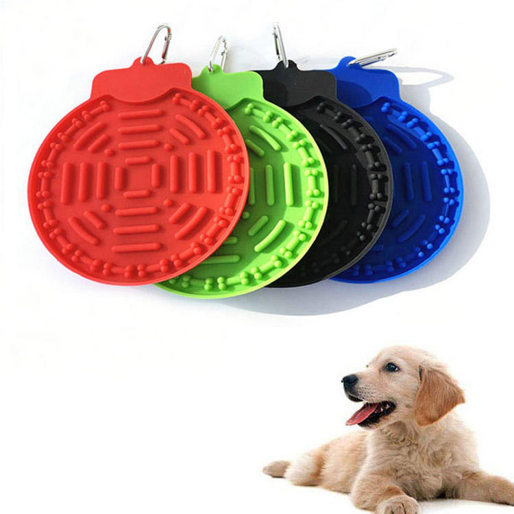 Factory wholesale pet slow food plate / dog licking pad pet plate