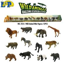 Animal Empire high quality realistic mini animal figure toy 12 styles assorted wild animal model set