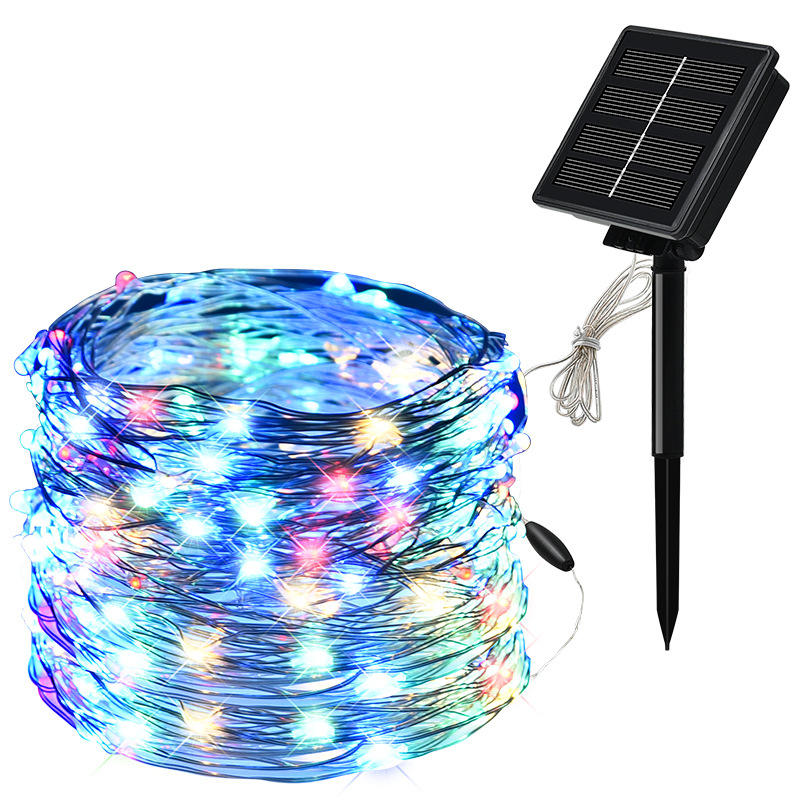 Indoor/outdoor home used solar powered waterproof string light for holiday christmas decor