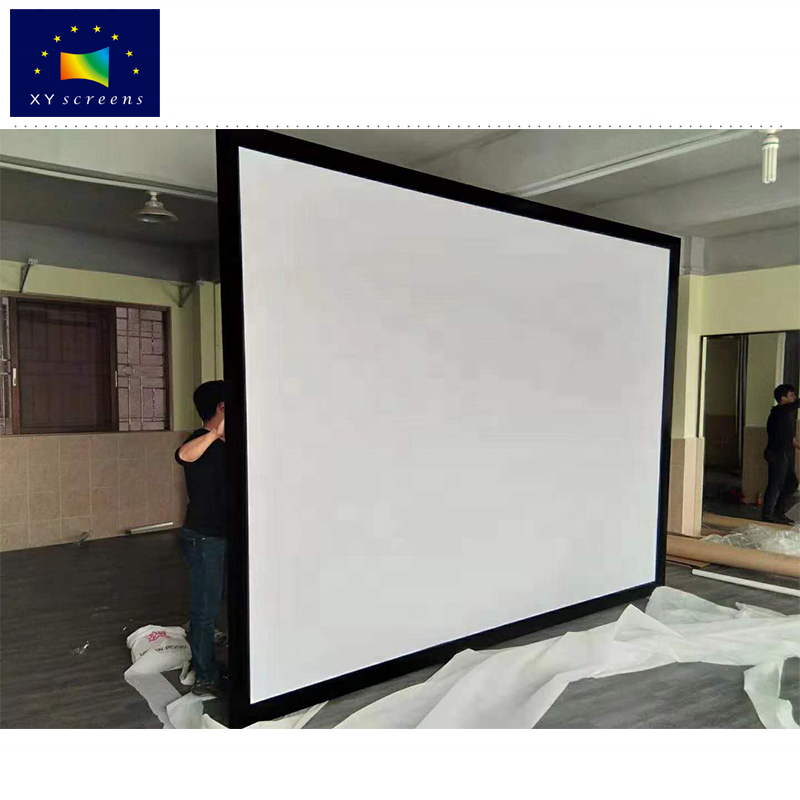 XYscreens Customized Size Golf Ball Impact Projection Screen Fabric with Fixed Frame