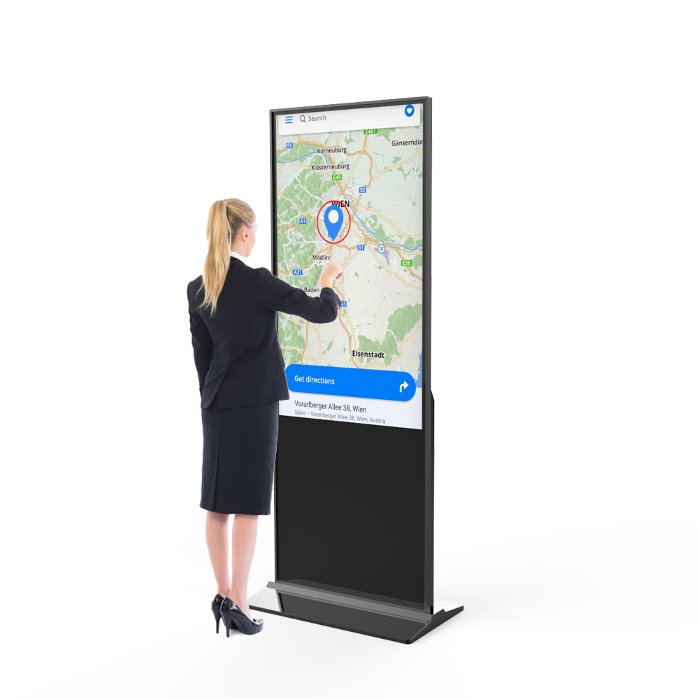 Werbung touchscreen kiosk 49 zoll netzwerk mall video poster design totem digital signage ad-player