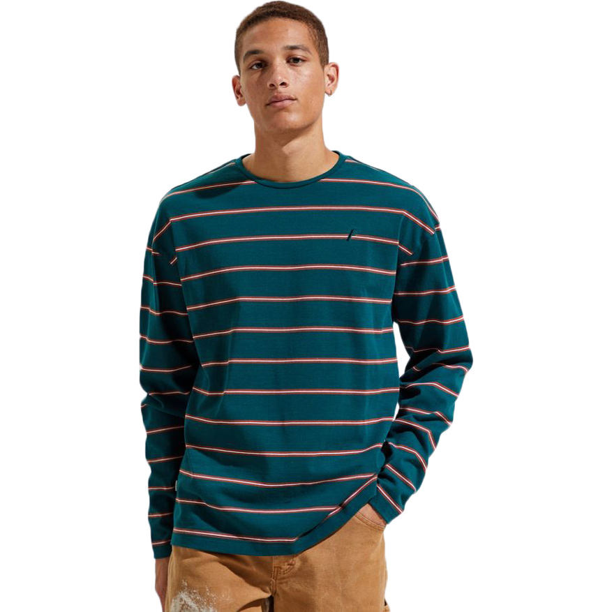 2020 Latest Design OEM Services Striped Thick O Neck Long Sleeve T-Shirt