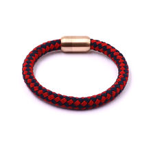 Wholesale Germany Hot Selling Students Gifts Round Woven Braided Nylon Rope Rose Gold Rope Bracelet For Girls