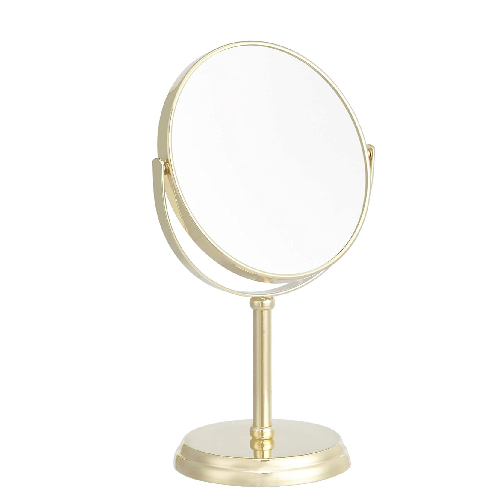 Wholesale Makeup Mirror Dressing Table Mirrors 1X/5X Magnification Gold Cosmetic tools Handmade Make Up Mirror-Gold