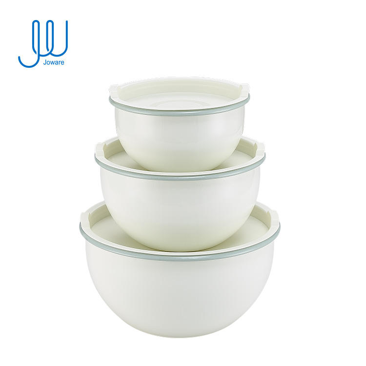 Hot Sale Factory Deep Thick Lfgb 215.1X115.5Mm Steel Mixing Bowl With Enamel Coating Inside And Outside