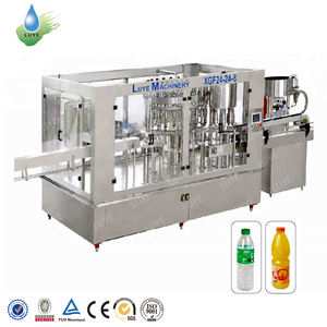Automatic water juice soda drinks bottling machine bottle washing filling and capping machine