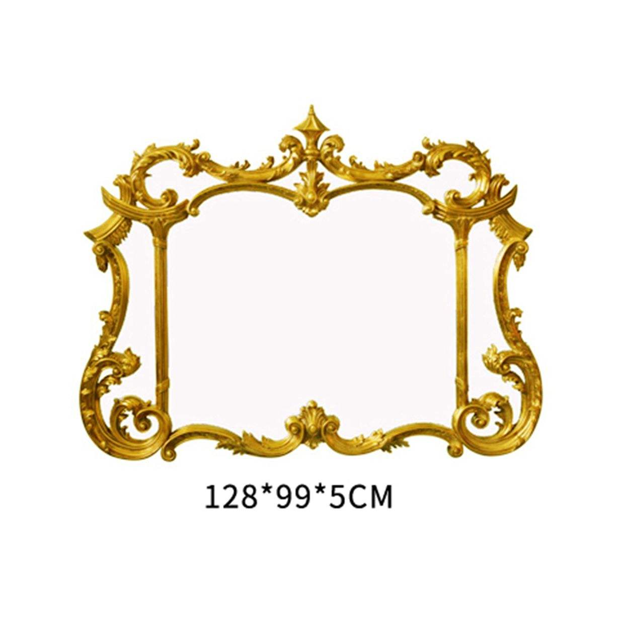Antique Style Gold Tone Hinged wall mirrors decorative