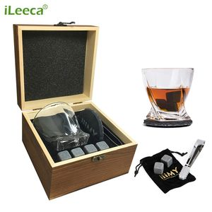 Whiskey Stones Gift Set for Men wholesale chilling ice cubes whisky stones with Crystal Whisky Glasses Tong