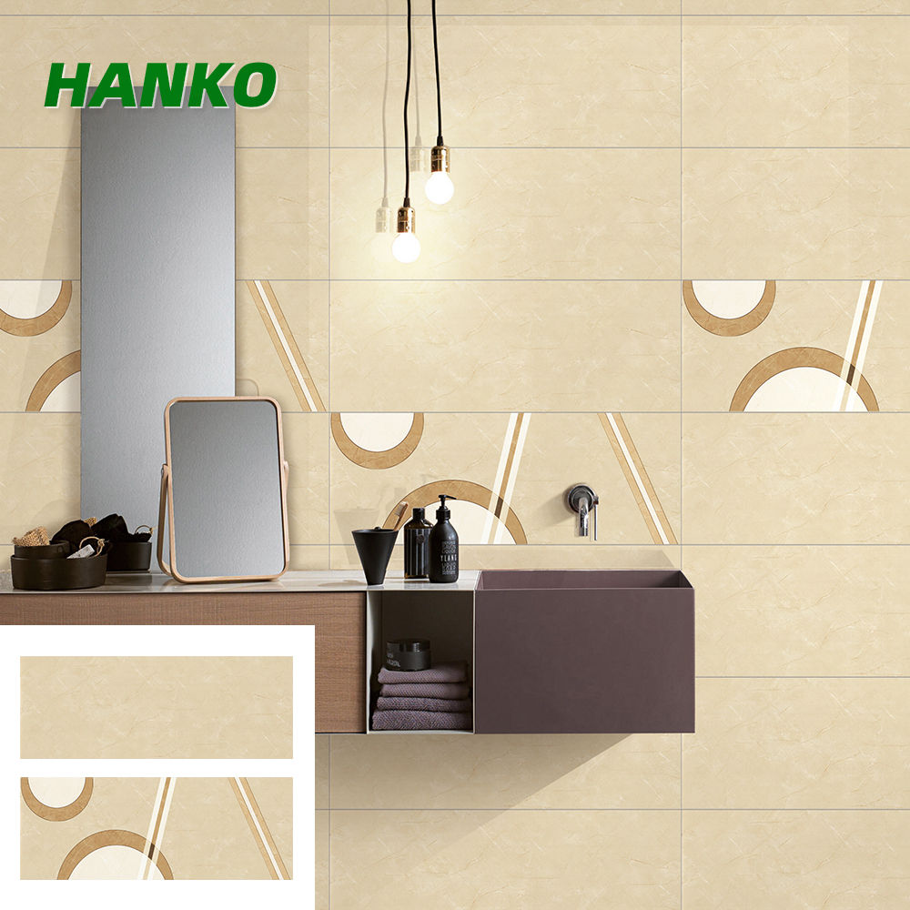 China Indoor Non Slip Full Body Badkamer Wandtegel Beige Marmer Look Porselein Geglazuurd Wandtegels 300X800