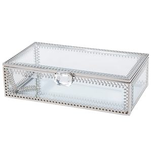 Home luxury light jewelry modern decorative glass mirror crafts storage box