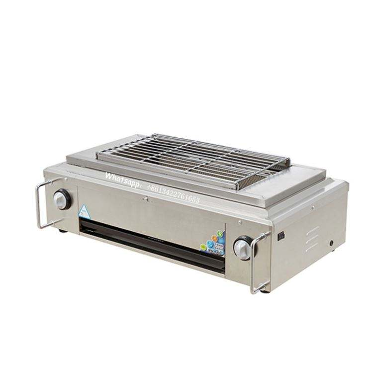 Rookloze Gas Lava Stenen BBQ Grill Counter Top Gas Lavasteen Grill voor Barbecue Perfex