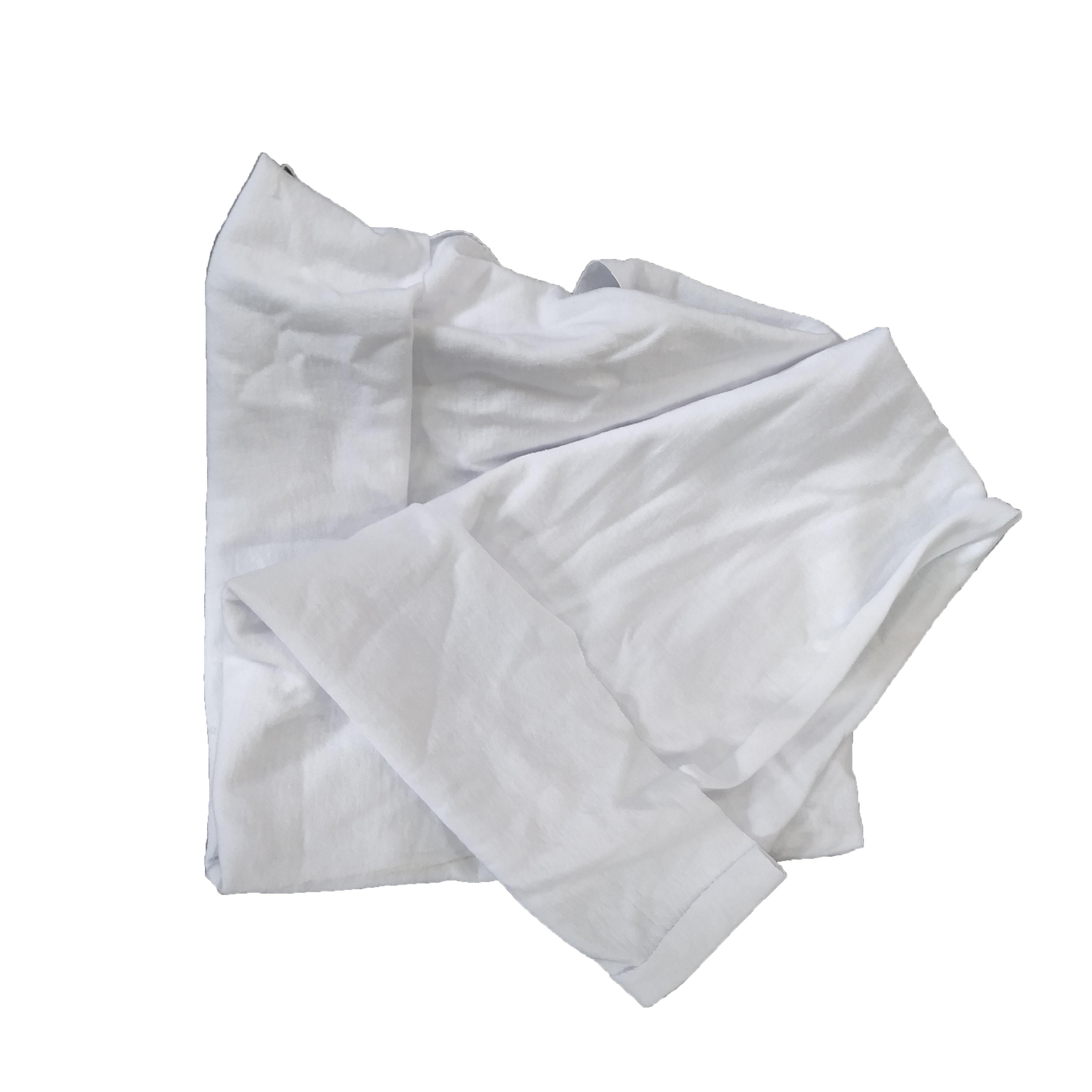 Wholesale cut new cotton milky white rags and wipers