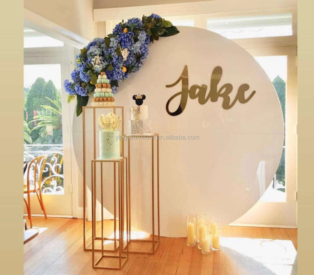 Party Decoration White Round Acrylic Backdrops