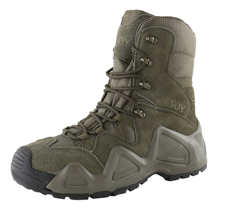 3-colors High-help ESDY outdoor waterproof breathable hiking shoes military tactical boots
