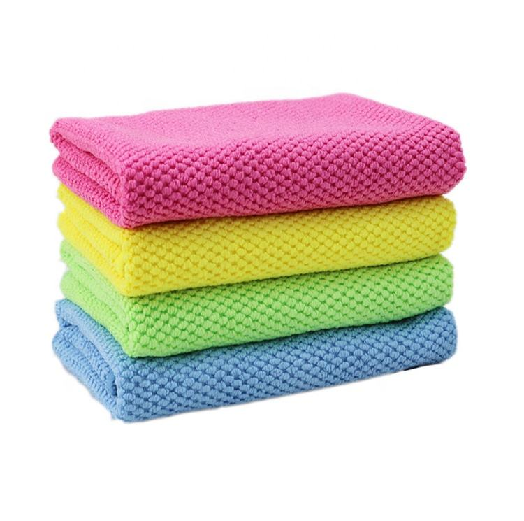 custom designer edgeless 40x40 table cleaning microfiber cloths, multi purpose 30x30 glass microfiber cleaning cloth for car