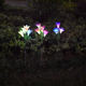 Outdoor Solar Garden Stake Lights Lily Flower Multi-Color Changing LED Solar Landscape Light