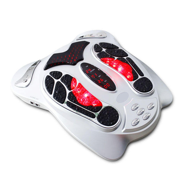 Electric Remote Control Impulse Vibrating blood circulation Foot Massager body relaxing pain relief device