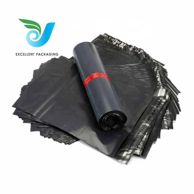 Custom Black Plastic Courier Bags in Mailing Bags