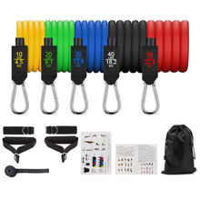 11Pcs Resistance Bands set 150lbs Pull Rope Gym Home Exercise Workout Fitness china sports equipment with handles custom logo