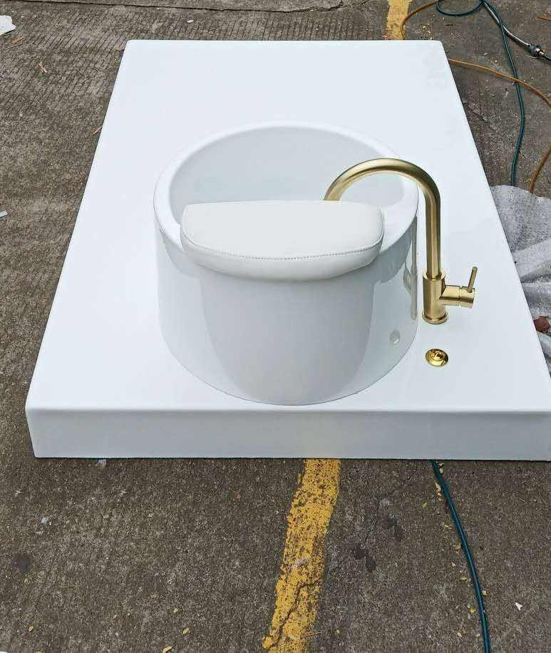 Pedicure Sink Met Jet Foot Spa Salon Pedicure Stoel Base Van Pipeless Spa Bad
