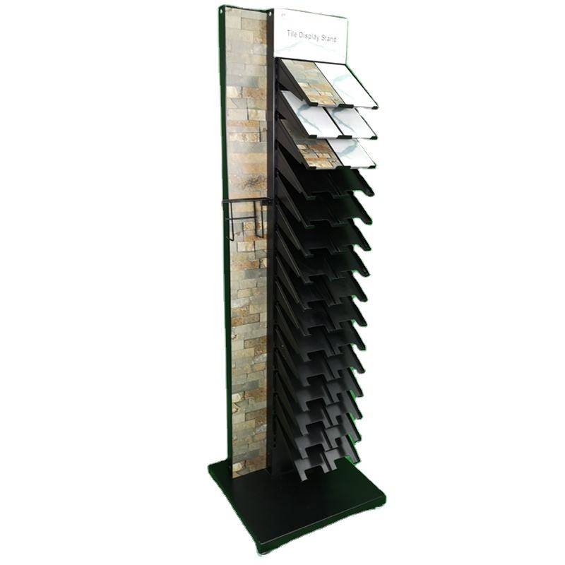 2020 new style ceramic tile customized one side metal floor display Stand Rack for retail