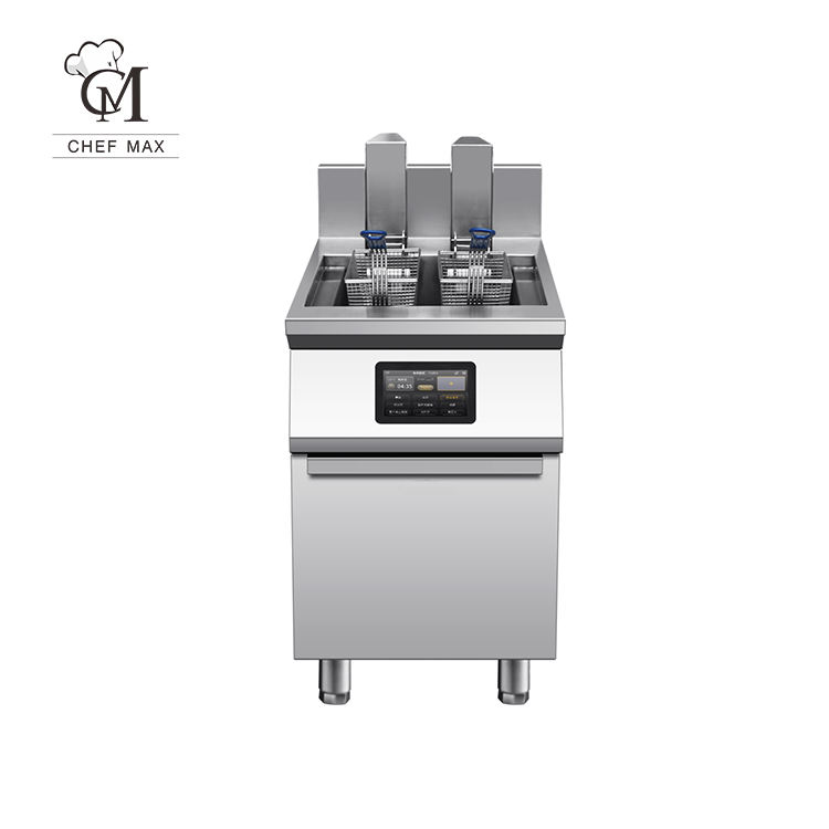 Industrial Intelligent Computer Control Automatic Electric Deep Fryer with Lifting Lever