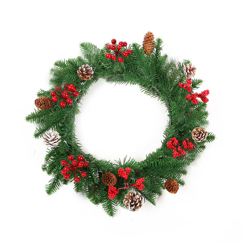 Christmas PE 40cm Wreath Shop Home Door Decoration Supplies