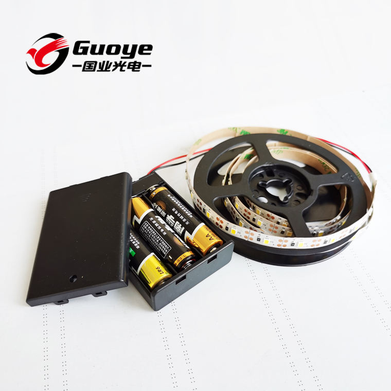 Factory battery led strip 3V 3.7V 4.5V 2835 60leds/m 1meter battery powered operated led light
