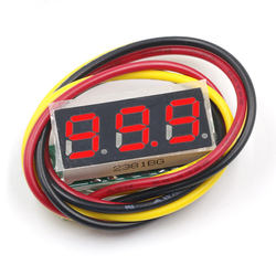 Red 3 Wire 0.28 Inch Dc 0-100v Mini Led Display Gauge Voltage Meter Voltmeter Tools Measurement Rate 200ms/Time Accuracy