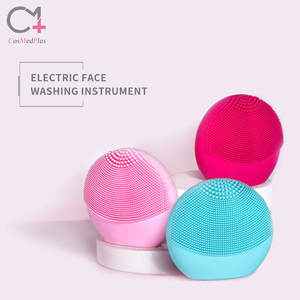 Wholesale 2020 New Portable Cleaning waterproof Face Cleansing Brush Facial Mini Soft Silicone Facial Cleansing Brush