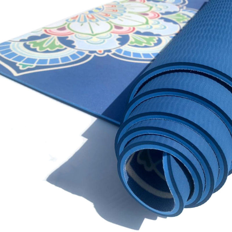 Sport Premium Esteras De Pro Logo Custom Print 6mm 8mm Puzzle Exercise Folding Yoga Mats India With Carrying Strap For Pilates