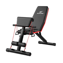 Wellshow Adjustable Weight Bench, Utility Gym Bench for Full Body Workout, Multi-Purpose Foldable Incline Decline Benchs