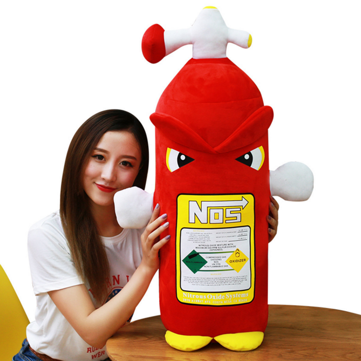 Creative 35cm cartoon fire extinguisher pillow doll plush toy sleeping cushion children doll personality toy
