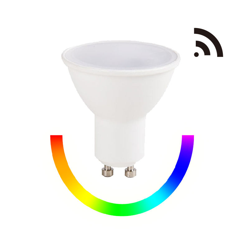 Google Home Coloré RGBWW LED Intelligente À Distance GU10 LED Wi-fi Ampoule