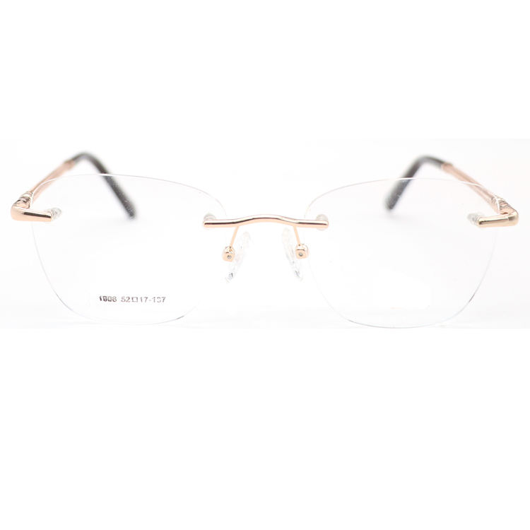Fashion rimless frames glasses optical eyeglasses