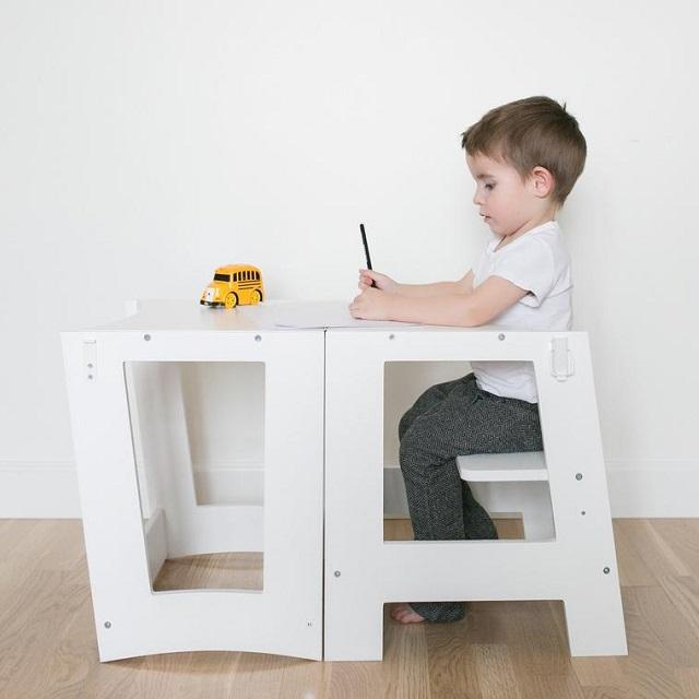Kids Kitchen step stool Learning Standing tower with adjustable standing Platform
