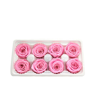 wholesale best sale 4-5cm eternal stabilized preserved red roses flower head with paperbox