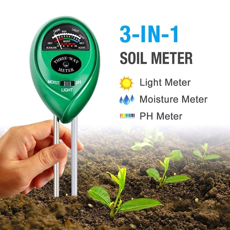 Wholesale Low MOQ Three in one soil thermometer PH/MOIST/LIGHT soil probe thermometer soil compost thermometer