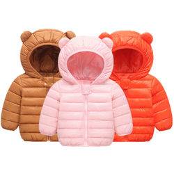Winter children's clothing with cute ears children's down cotton coat