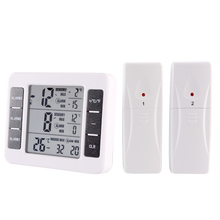 KH-TH026 Smart Remote Monitor Indoor Outdoor Max/Min Temperature Wireless Digital Thermometer with 2 Sensors