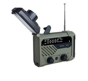 Malak Factory OEM emergency weather solar energy AM/FM / NOAA WB Weather forecast radio with portable 2000mAh power bank