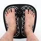 electrical foot massager with detachable control unit and soft solid foot mat cushion