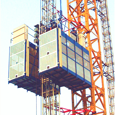 Construction site used GJJ frequency inverter type passenger materials hoist with rack and pinion